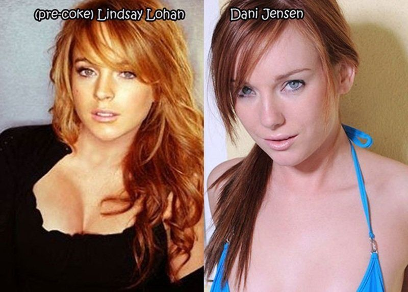 Сучка известные девушки и их порно двойники