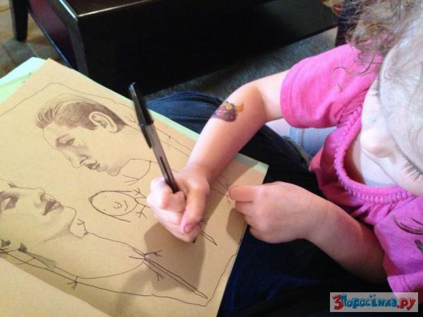 когда ребенок рисует маму в деталях счет того, что