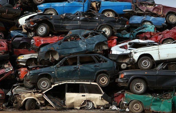 фото утилизируемого автомобиля