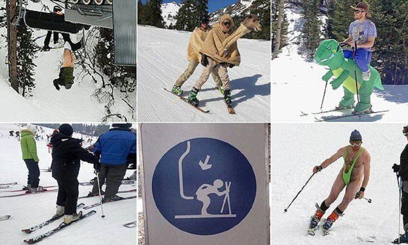 Смешная история на лыжах