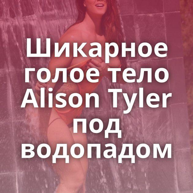 Шикарное голое тело Alison Tyler под водопадом