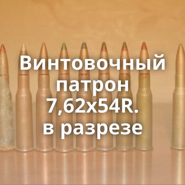 Винтовочный патрон 7,62х54R. вразрезе