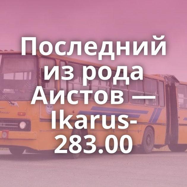 Последний изрода Аистов — Ikarus-283.00