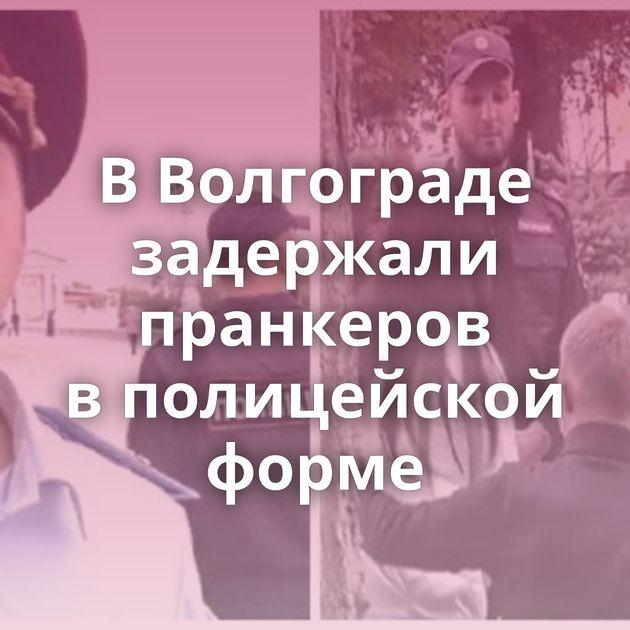 ВВолгограде задержали пранкеров вполицейской форме