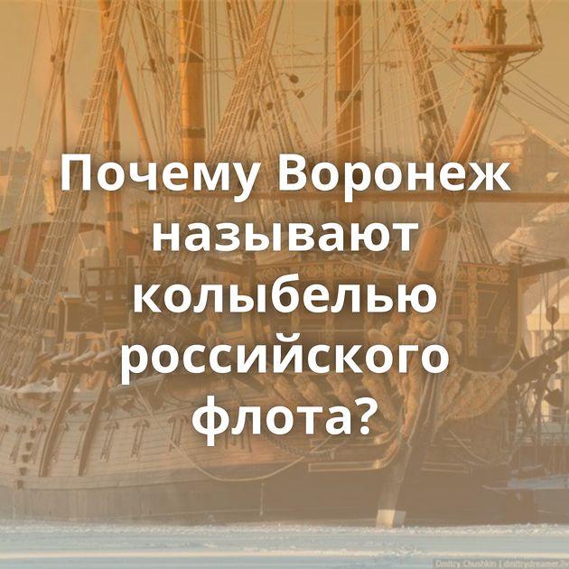 Почему Воронеж называют колыбелью российского флота?