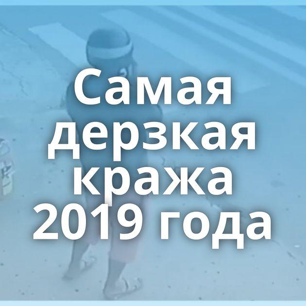 Самая дерзкая кража 2019 года