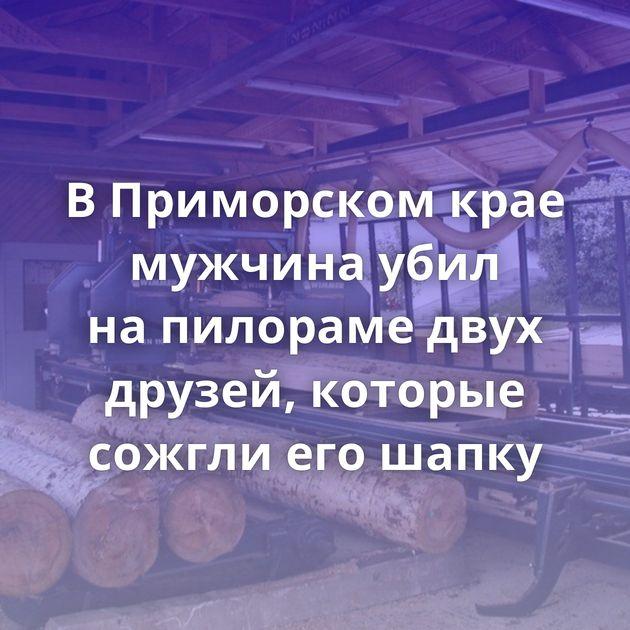 ВПриморском крае мужчина убил напилораме двух друзей, которые сожгли егошапку