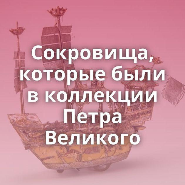 Сокровища, которые были в коллекции Петра Великого