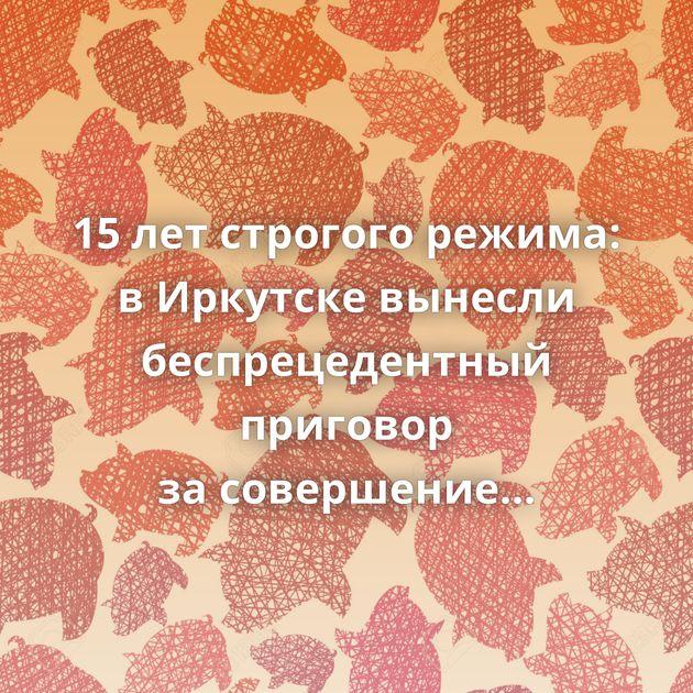 15летстрогого режима: вИркутске вынесли беспрецедентный приговор засовершение смертельного ДТП