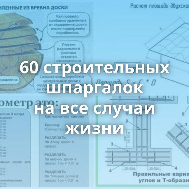 60строительных шпаргалок навсеслучаи жизни