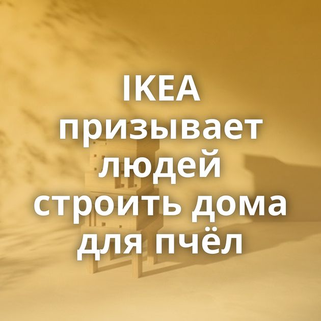 IKEA призывает людей строить дома для пчёл
