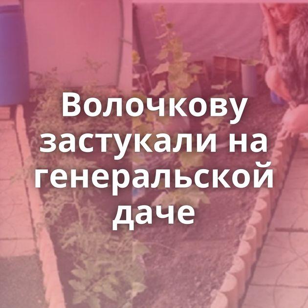 Волочкову застукали на генеральской даче