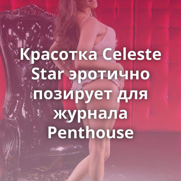 Красотка Celeste Star эротично позирует для журнала Penthouse