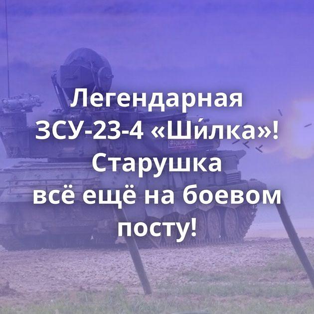 Легендарная ЗСУ-23-4 «Ши́лка»! Старушка всёещёнабоевом посту!