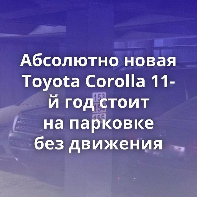 Абсолютно новая Toyota Corolla 11-й годстоит напарковке бездвижения