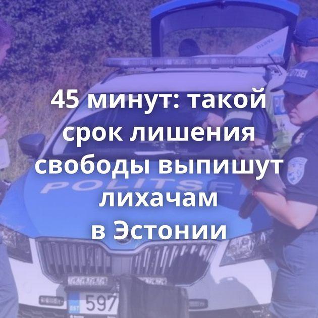 45минут: такой срок лишения свободы выпишут лихачам вЭстонии