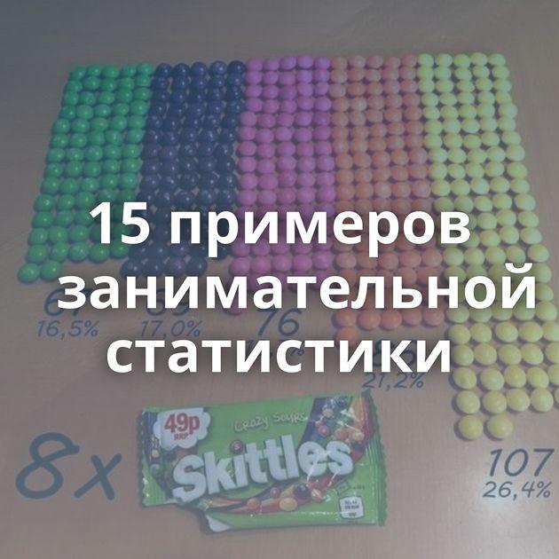 15примеров занимательной статистики