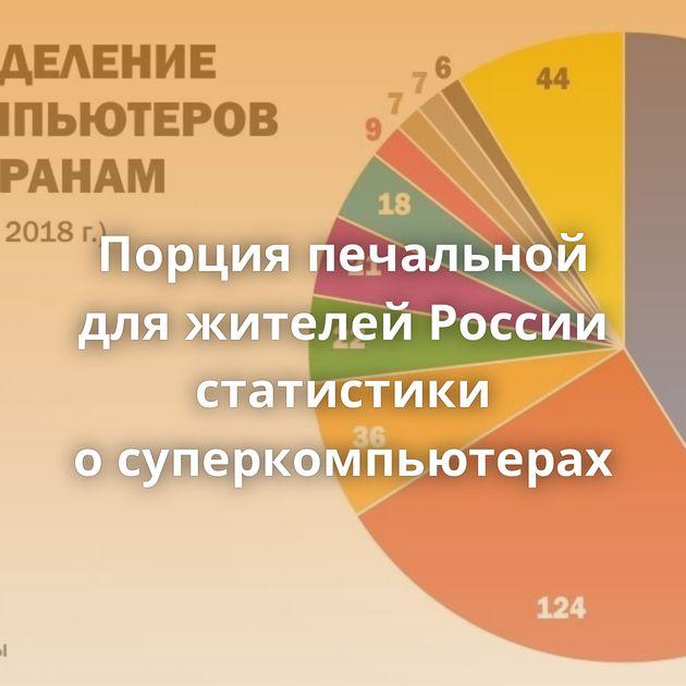 Порция печальной дляжителей России статистики осуперкомпьютерах