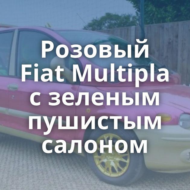 Розовый Fiat Multipla сзеленым пушистым салоном