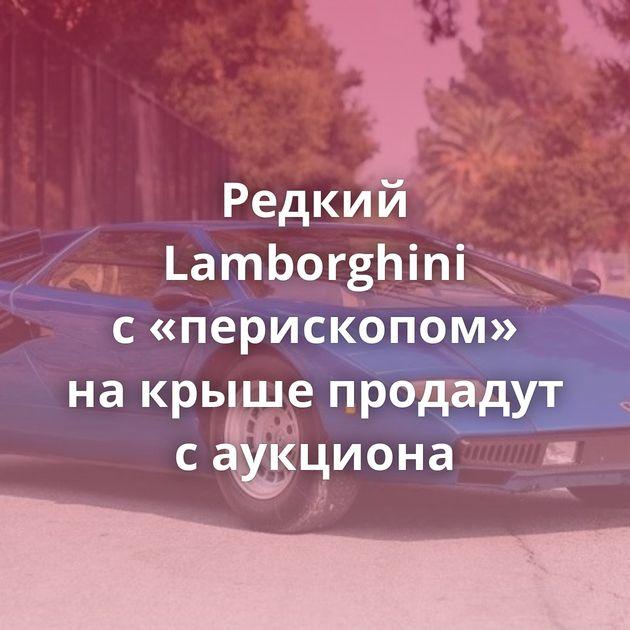 Редкий Lamborghini с«перископом» накрыше продадут саукциона
