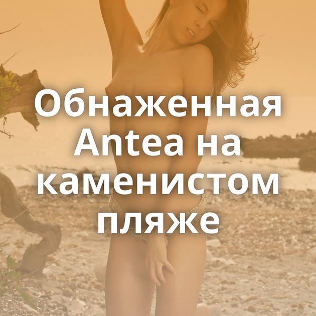 Обнаженная Antea на каменистом пляже