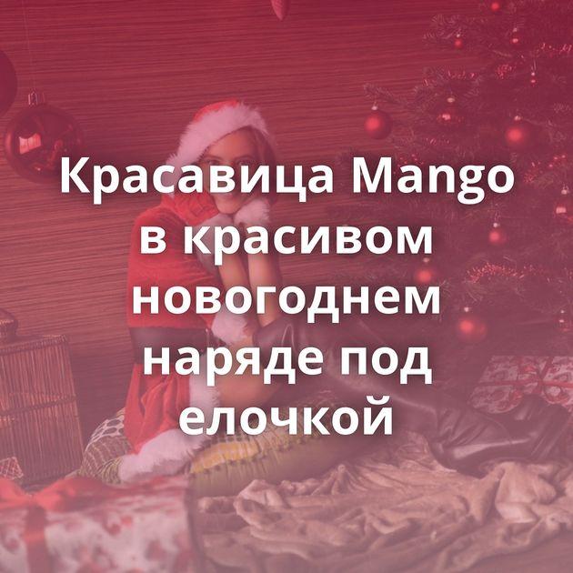 Красавица Mango в красивом новогоднем наряде под елочкой