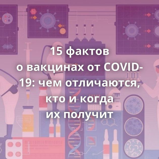 15фактов овакцинах отCOVID-19: чемотличаются, ктоикогда ихполучит