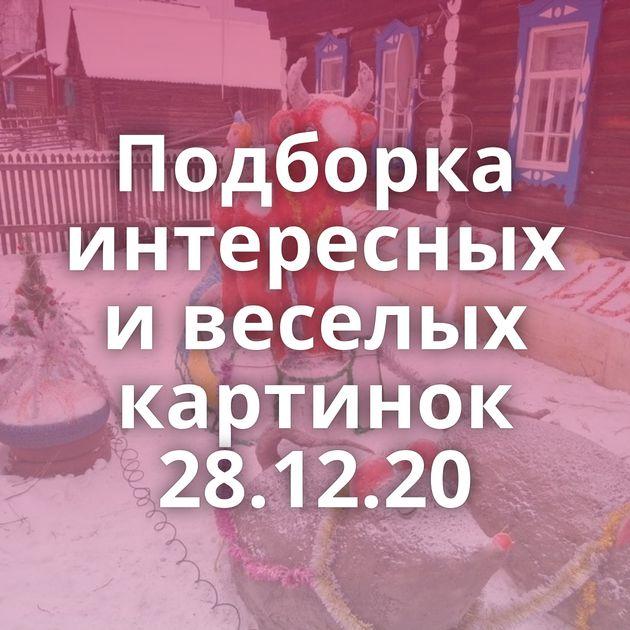 Подборка интересных и веселых картинок 28.12.20