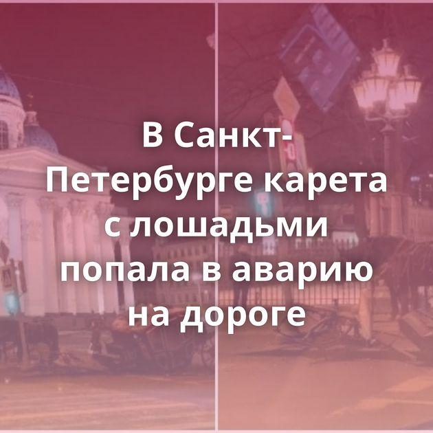 ВСанкт-Петербурге карета слошадьми попала ваварию надороге