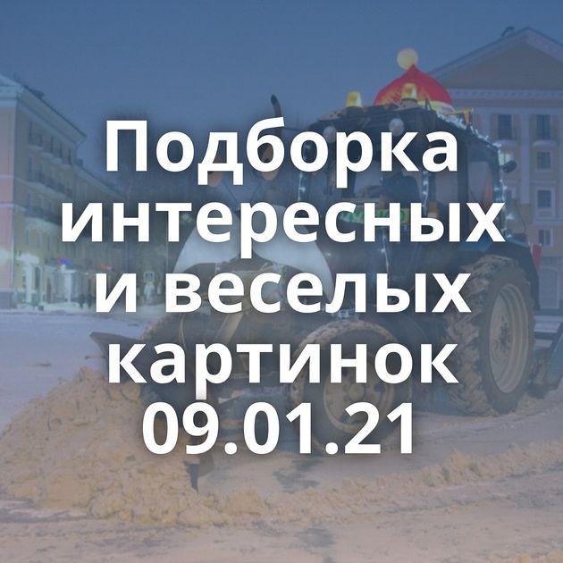 Подборка интересных и веселых картинок 09.01.21