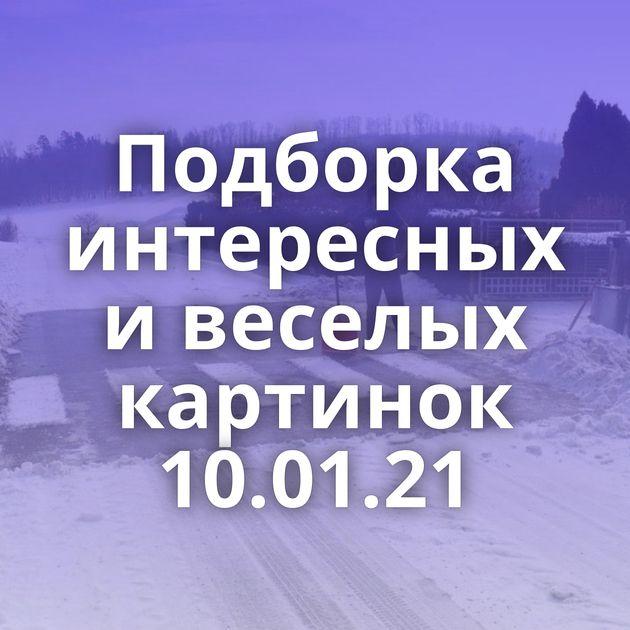 Подборка интересных и веселых картинок 10.01.21