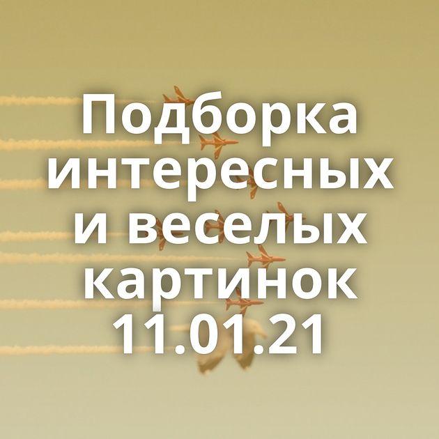 Подборка интересных и веселых картинок 11.01.21