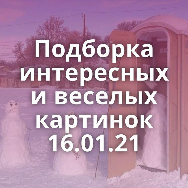 Подборка интересных и веселых картинок 16.01.21
