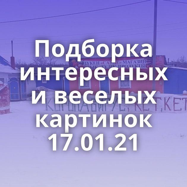 Подборка интересных и веселых картинок 17.01.21