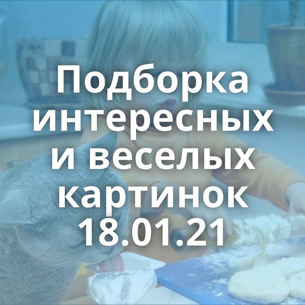 Подборка интересных и веселых картинок 18.01.21
