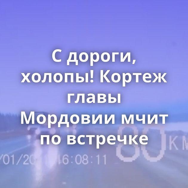 Сдороги, холопы! Кортеж главы Мордовии мчит повстречке