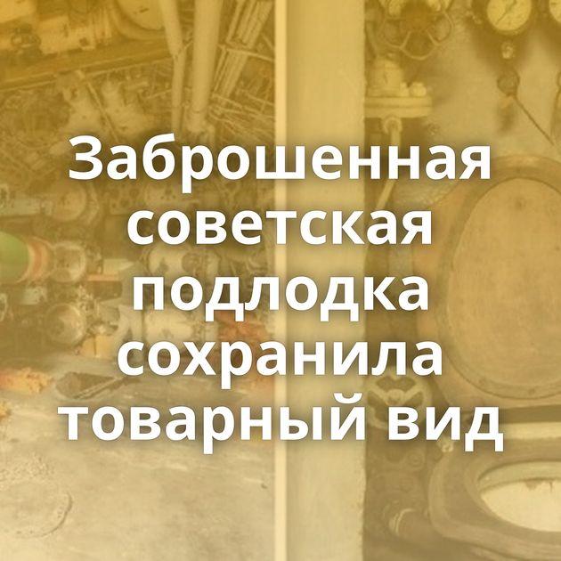Заброшенная советская подлодка сохранила товарный вид