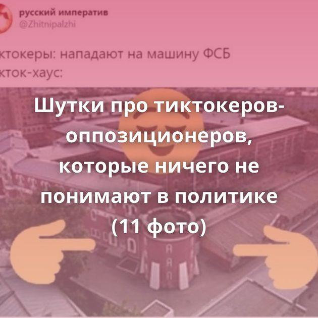 Шутки про тиктокеров-оппозиционеров, которые ничего не понимают в политике (11 фото)
