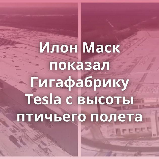 Илон Маск показал Гигафабрику Tesla свысоты птичьего полета