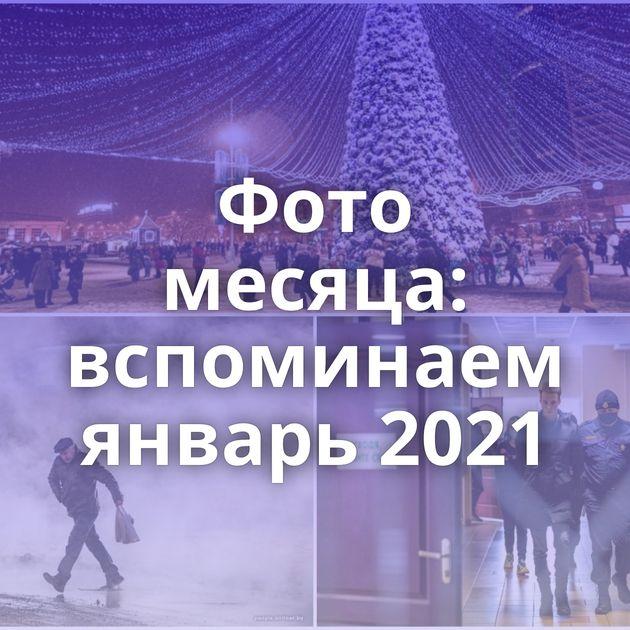 Фото месяца: вспоминаем январь 2021