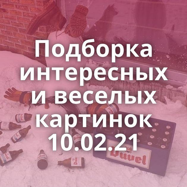 Подборка интересных и веселых картинок 10.02.21