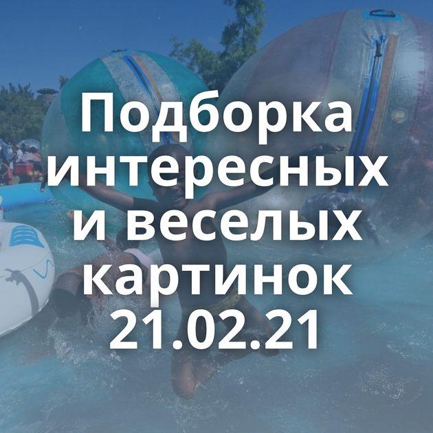 Подборка интересных и веселых картинок 21.02.21