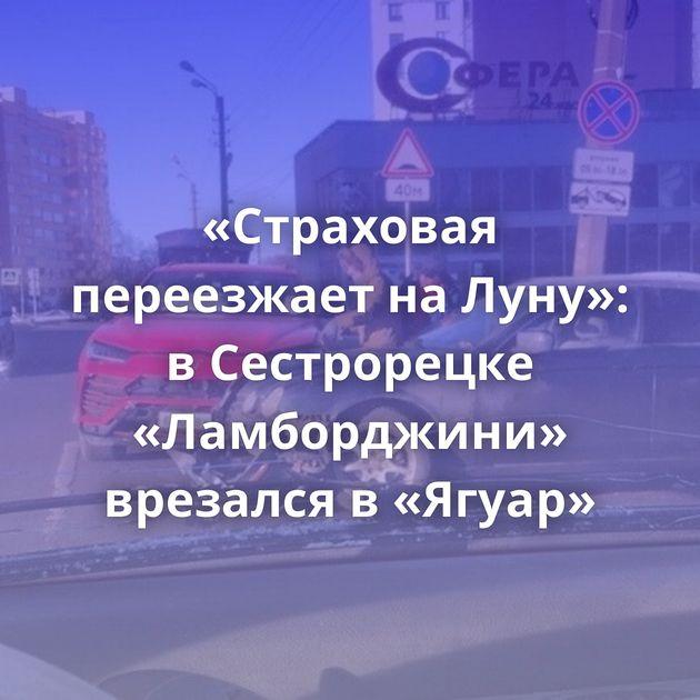 «Страховая переезжает наЛуну»: вСестрорецке «Ламборджини» врезался в«Ягуар»