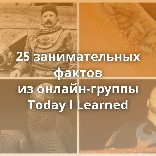 25занимательных фактов изонлайн-группы Today ILearned