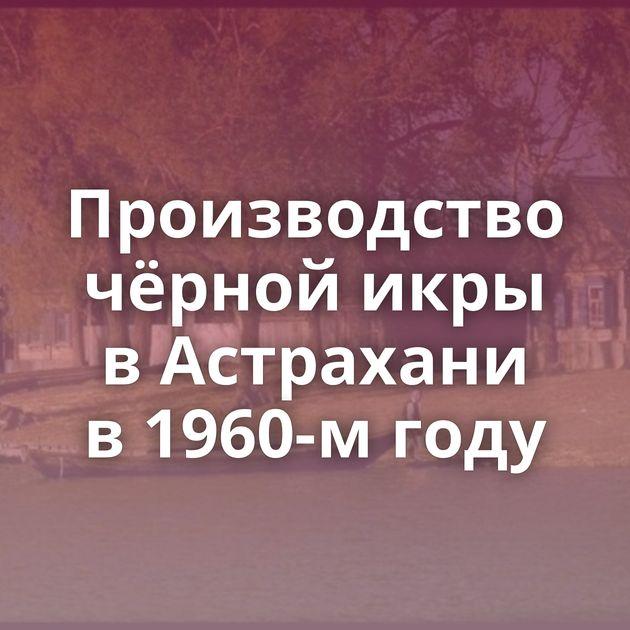 Производство чёрной икры вАстрахани в1960-м году