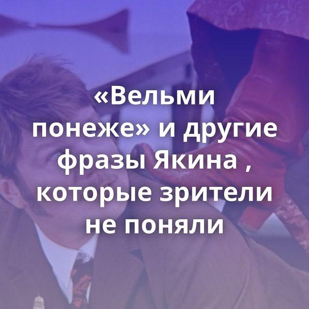 «Вельми понеже» идругие фразы Якина , которые зрители непоняли