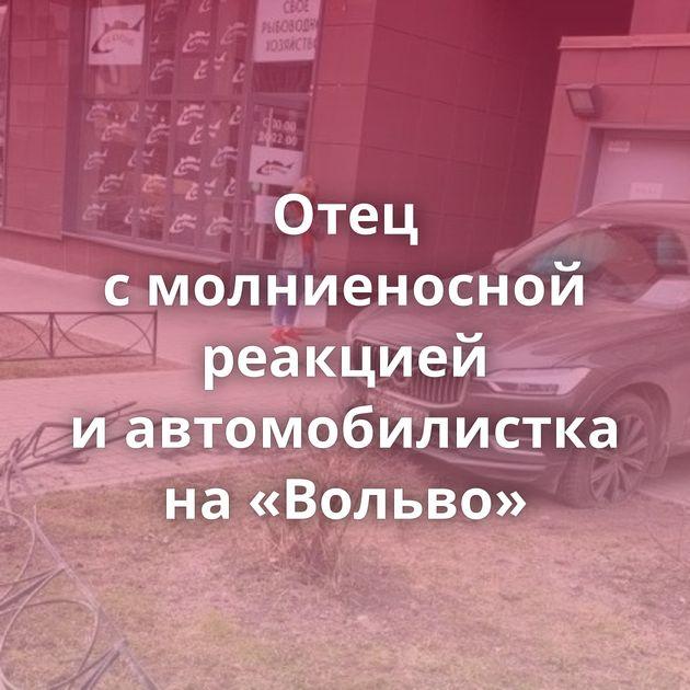 Отец смолниеносной реакцией иавтомобилистка на«Вольво»