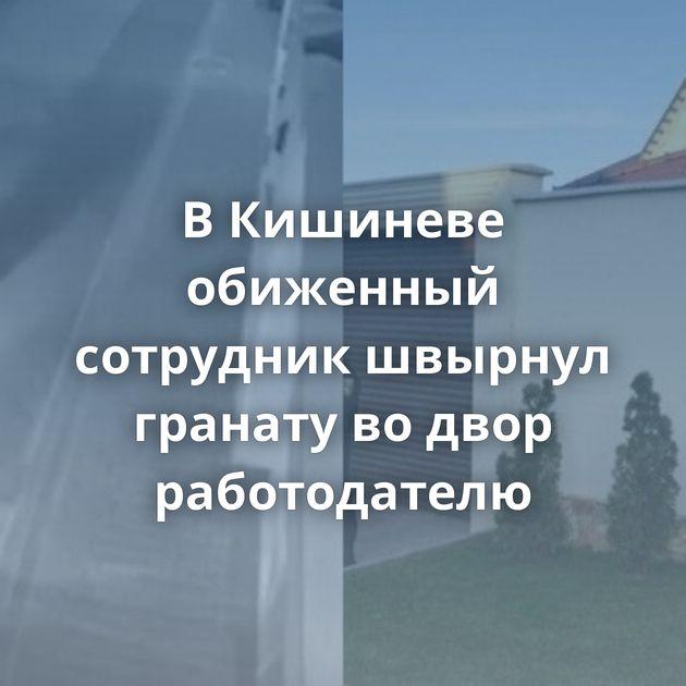ВКишиневе обиженный сотрудник швырнул гранату водвор работодателю