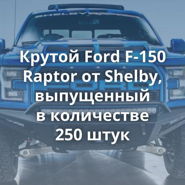 Крутой Ford F-150 Raptor отShelby, выпущенный вколичестве 250штук