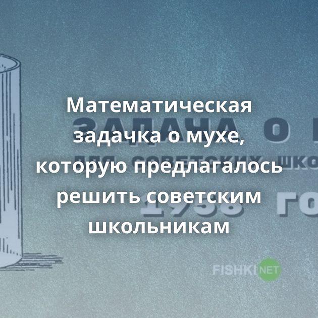 Математическая задачка омухе, которую предлагалось решить советским школьникам